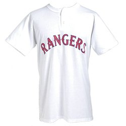 Rangers MLB Placket (White) (EA) by Majestic