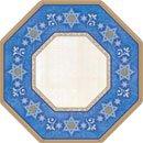 Judaic Traditions Shaped Dessert Plates 8ct