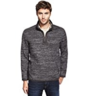North Coast Half Zip Ribbed Fleece Top