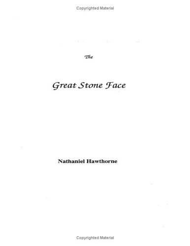 Great Stone Face, NATHANIEL HAWTHORNE