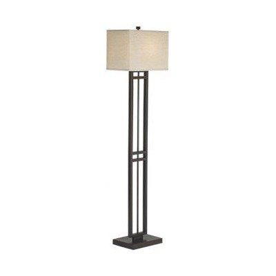 Finish Coast Fabric Lampbronze Lighting Floor Loftlight Shade  Central Linen 2470