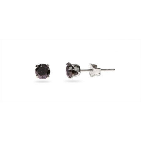 The Boss Black Onyx Sterling Silver Mens Studs