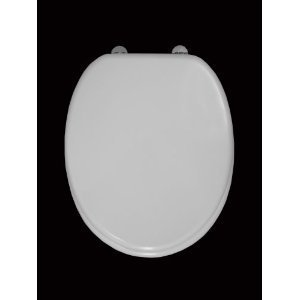 White MDF Toilet Seat & Cover & Chrome Multi position fittings