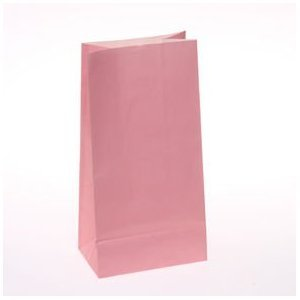 50 Solid Paper Bags - Pastel Pink
