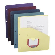Slash Pocket Recycled Folders, 3-Hole Punched, 2/5 Tab, Assorted Colors, 10/Pk - Sold By the Pack - Buy Slash Pocket Recycled Folders, 3-Hole Punched, 2/5 Tab, Assorted Colors, 10/Pk - Sold By the Pack - Purchase Slash Pocket Recycled Folders, 3-Hole Punched, 2/5 Tab, Assorted Colors, 10/Pk - Sold By the Pack (Smead Manufacturing Company, Office Products, Categories, Office & School Supplies, Binders & Binding Systems, Binders, Ring Binders, Round Ring Binders)