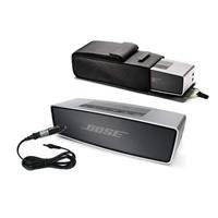 Bose Soundlink Mini Bluetooth Speaker, Up To 30 Ft Wireless Range, Silver - Bundle With Bose Soundlink Mini Travel Bag Gray, Bose Soundlin Mini Car Charger