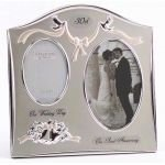 """Two Tone Silverplated Wedding Anniversary Gift Photo Frame - """"30th Pearl Anniversary"""" by The Emporium Home"""