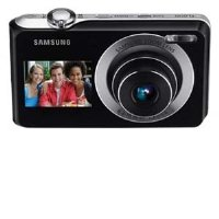Samsung DualView TL205 - Digital camera - compact - 12.2 Mpix - optical zoom: 3 x - supported memory: SD, SDHC - silver