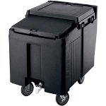 Cambro ICS125LB-110 Sliding Lid Polyethylene Standard Height Ice Caddy, 29-1/4-Inch, Black