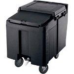 Cambro ICS125LB-110 Sliding Lid Polyethylene Standard Height Ice Caddy, 29-1/4-Inch, Black