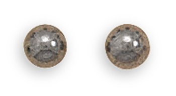 4mm Hematite Bead Stud Earrings