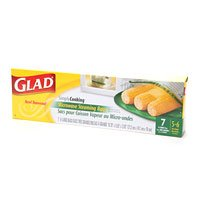 Glad Simplycooking Microwave Steaming Bags 7 Bags Per Pack, X-large Bags 5-6 Servings Portion