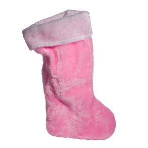 Pink Plush Christmas Stocking