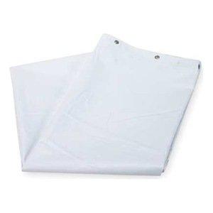 Industrial Grade 4EEY2 Shower Curtain, Vinyl, White, 72x72: Amazon ...