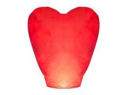 Heart Shaped Chinese Sky Lantern - Perfect for