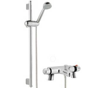 Thermostatic Bath Shower Mixer With Modern Slider Rail Kit
