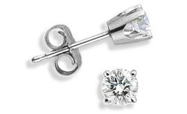 Baby 0.10 TCW White Gold Diamond Stud Earrings