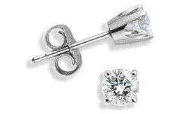 Baby 0.14 TCW White Gold Diamond Stud Earrings