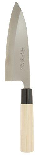 Kotobuki High Carbon Left Handed Japanese Deba Knife, 165mm, Silver