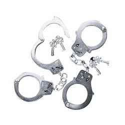 Fun Express Metal Double Lock Handcuffs with Keys (1 Piece) - 1