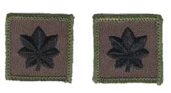 Navy LCDR (04) Rank Insignia Collar Device (pair) Patch