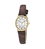 M&S Collection Oval Face Classic Strap Watch