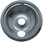 "Range Kleen 120A Chrome ""B"" Series Drip Pan, 8-Inch - Quantity 12"
