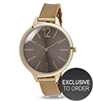 M&S Collection Round Face Analogue Mesh Strap Watch