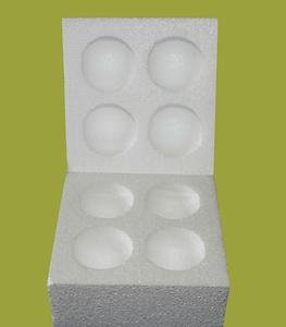 10 Polystyrene/ Poly Goose Egg Boxes For Posting Eggs