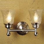 Newport Brass 10-52Fe Jacobean Double Light Bathroom Fixture With Flared Water E, Black
