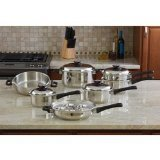Maxam KT17 17-Piece 9-Element Surgical-Stainless-Steel Waterless Cookware Set