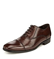 Collezione Leather Toe Cap Plaited Oxford Shoes