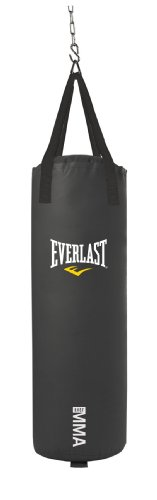 Everlast 70-Pound MMA Poly Canvas Heavy Bag (Black)