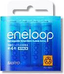 eneloop 単4形4個入りパック HR-4UTG-4BP