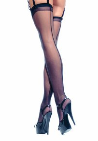 Plus Size Sheer Back Seam Stocking