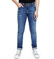 Cotton Rich Washed Look Skinny Denim Jeans