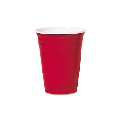 SOLO® Cup Company Party Plastic Cold Drink Cups SCC P16RLRCT
