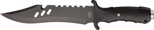 Frost Cutlery & Knives 18406Bb Silent Assassin Bowie Fixed Blade Knife With Black Textured Rubberized Handles
