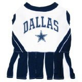 Pets First DCCLO-SM Dallas Cowboys NFL Dog Cheerleader Outfit - Small by Pets First
