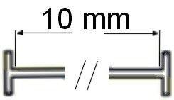 T fils nylon standard 10 mm (5000 attaches textiles)
