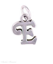 """Sterling Silver 18"""" 1.0Mm Wide Box Chain Lightweight Boys Necklace With Scrolled Letter E Pendant"""