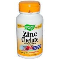 Way zinc chélate de la nature - 30 mg - 100
