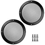 Bluecell 2 pcs Black Color Speaker Grills Cover Case with 8 pcs Screws for Screw Hole C to C 6.68