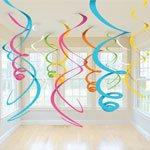 Multi Coloured Swirl Decorations, Pac...