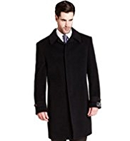Big & Tall Collezione Wool Rich Coat with Cashmere