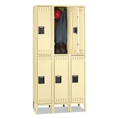 ** Double Tier Locker with Legs, Triple Stack, 36w x 18d x 72h, Sand