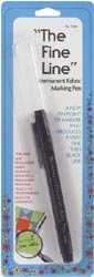 Dritz Fine Line Permanent Fabric Marking Pen Black C358; 2 Items/Order