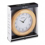 Seth Thomas Grafton Wood Case Wall Clock, 8 Inches, Light Oak, 1 AA Battery (9181P)