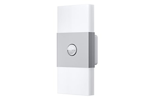 OSRAM-Noxlite-LED-Wall-Auenlampe-mit-Bewegungsmelder-und-Dmmerungssensor-Khlkrper-aus-hochwertigem-Aluminium-2-x-6W-6000K-kaltwei-silber