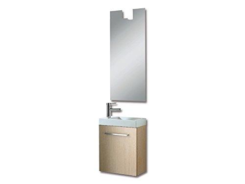Gäste WC Waschtisch Unterschrank mit Spiegel und Beleuchtung